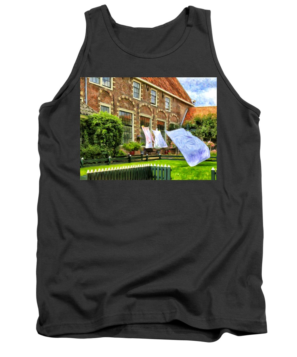 English Manor House Tank Top featuring the painting A Day In The Life by Dominic Piperata