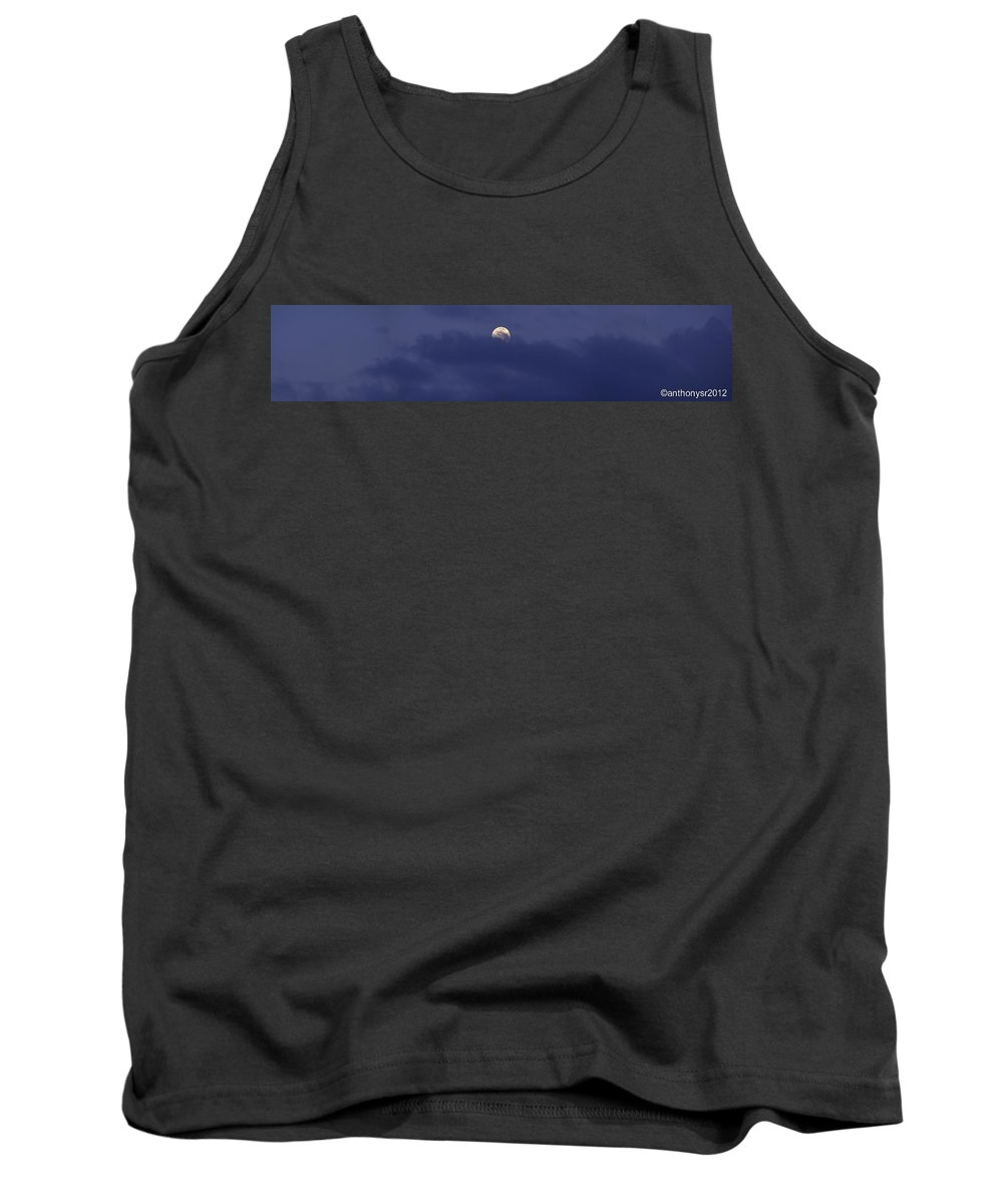 Landscape Tank Top featuring the photograph A Moon Shot by Anthony Walker Sr