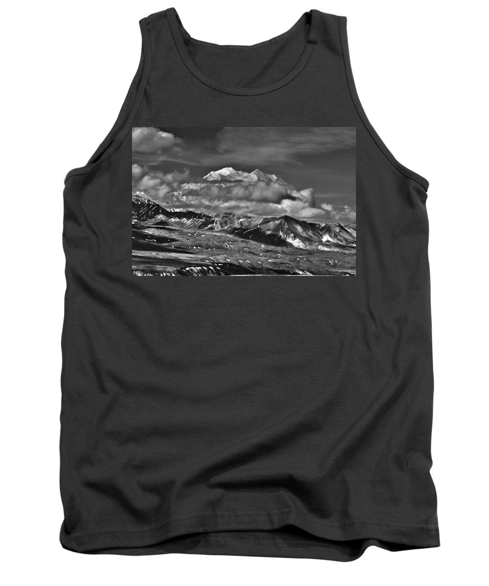 A Peek At Mckinley Tank Top featuring the photograph A Peek At Mckinley by Wes and Dotty Weber