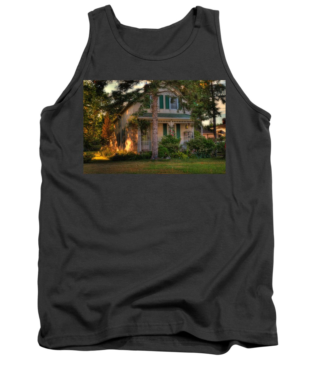 Acrylic Prints Tank Top featuring the photograph A Typical Old Cottage In Town by John Herzog