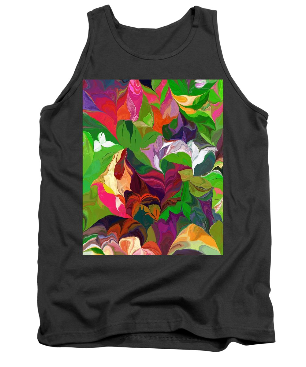 Fine Art Tank Top featuring the digital art Abstract 090912 by David Lane