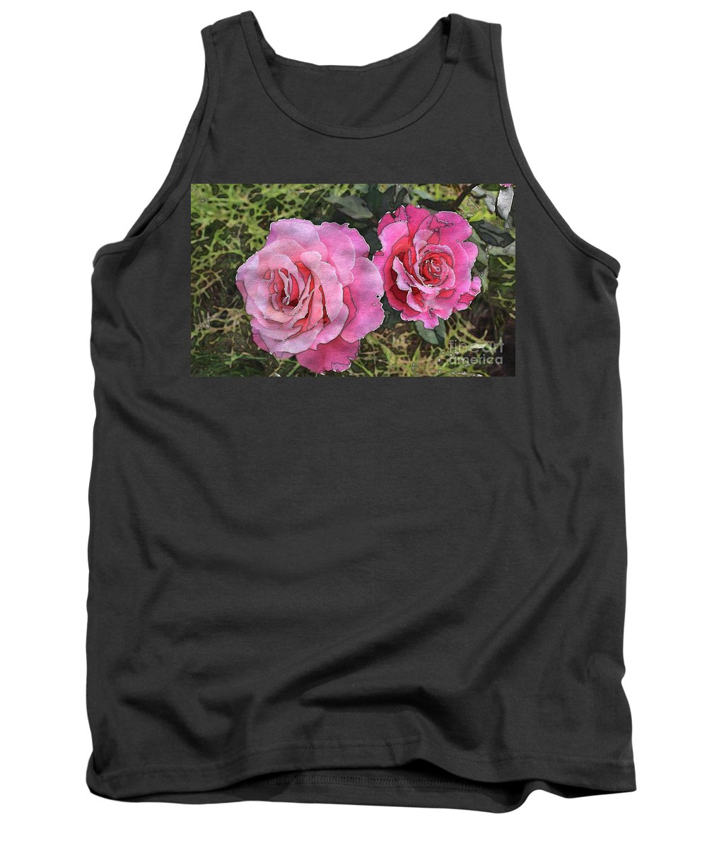 After The Summer Rain Tank Top featuring the digital art After The Summer Rain Watercolor by Barbara Griffin