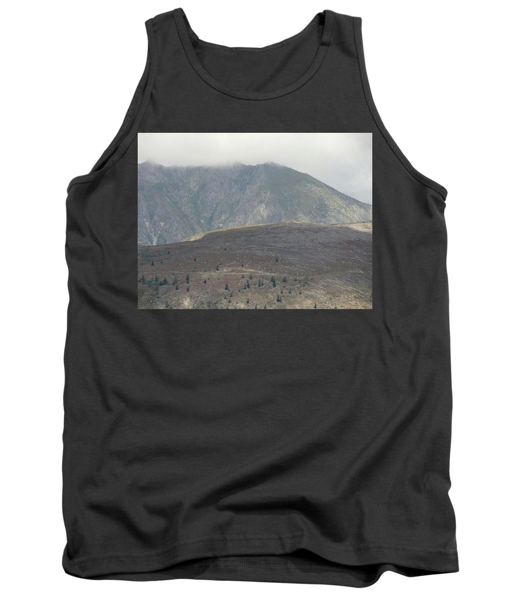 Photos Of Mt St Helens Photographs Tank Top featuring the photograph Aftermath by Christy Leigh