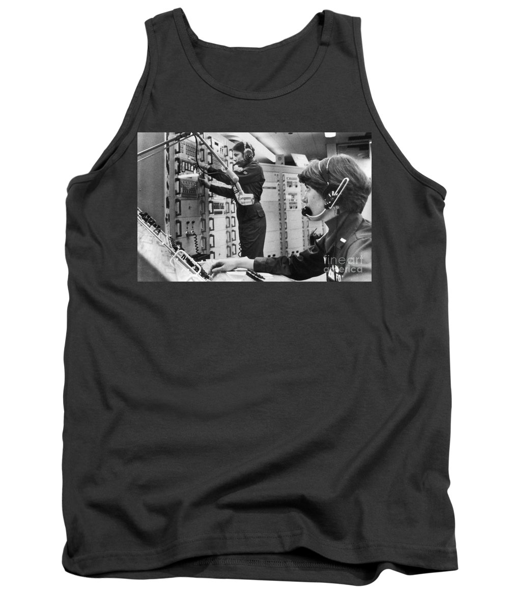 1978 Tank Top featuring the photograph Air Force Crew, 1978 by Granger
