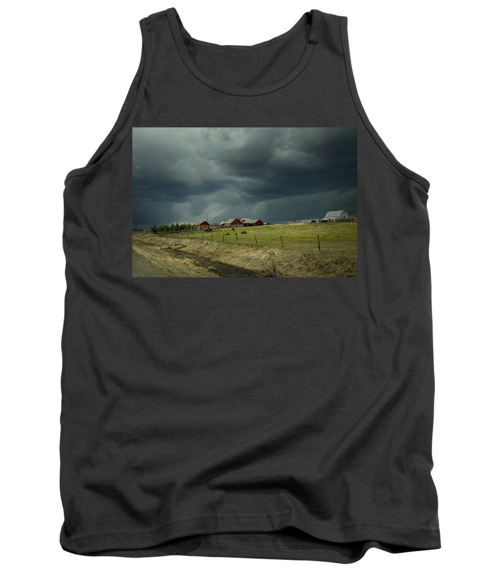 Alberta Tank Top featuring the digital art Alberta Stormy Weather by Diane Dugas