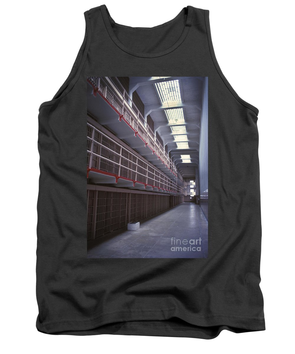 Alcatraz Tank Top featuring the photograph Alcatraz Cell Block by Paul W Faust - Impressions of Light