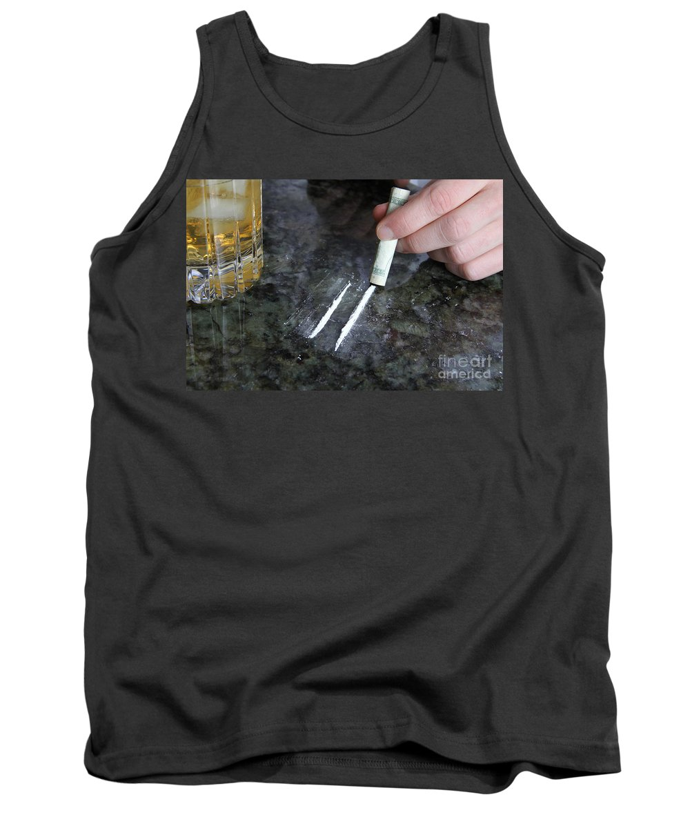 Beverage Tank Top featuring the photograph Alcohol And Cocaine by Photo Researchers