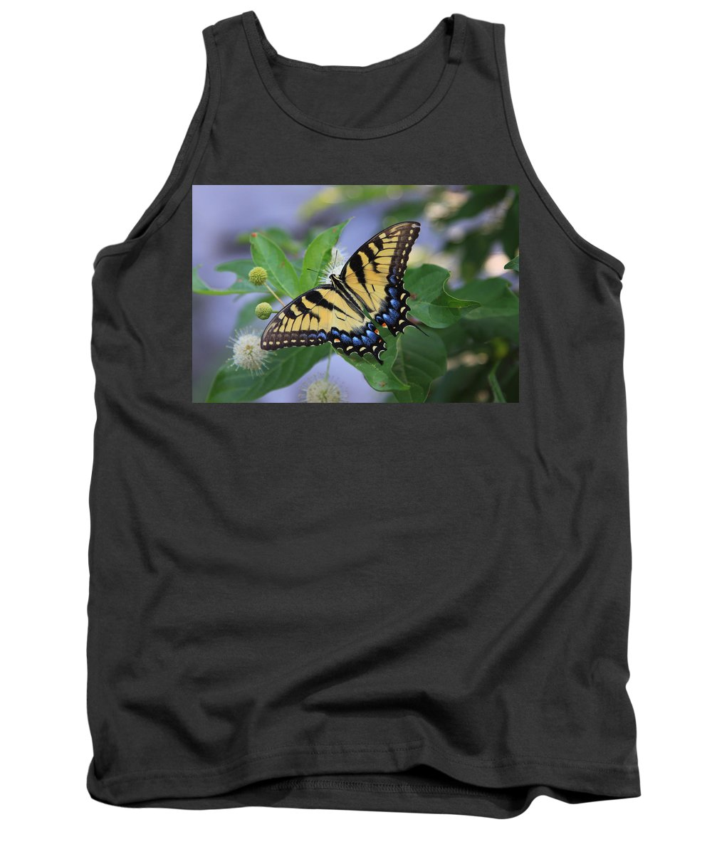 Butterfly Tank Top featuring the photograph Alight by Shari Jardina