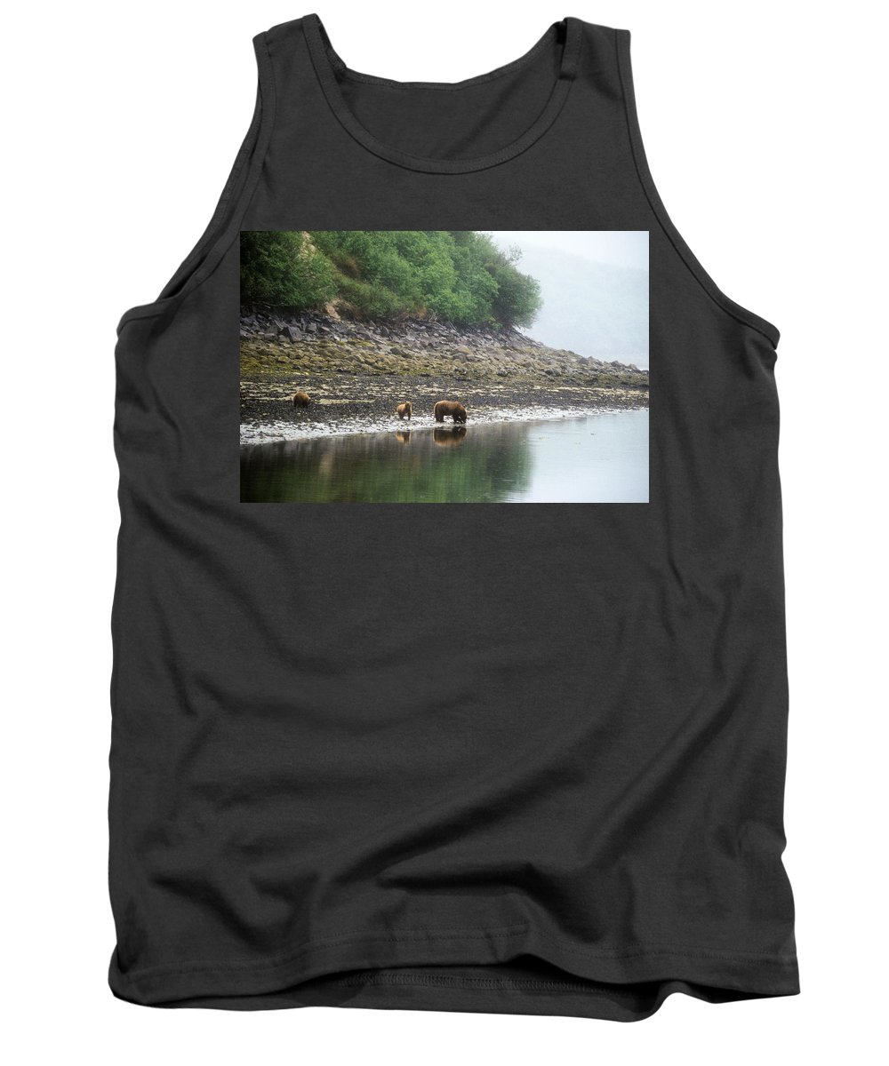 Alaska Tank Top featuring the photograph Along Geographic Bay by Larry Allan