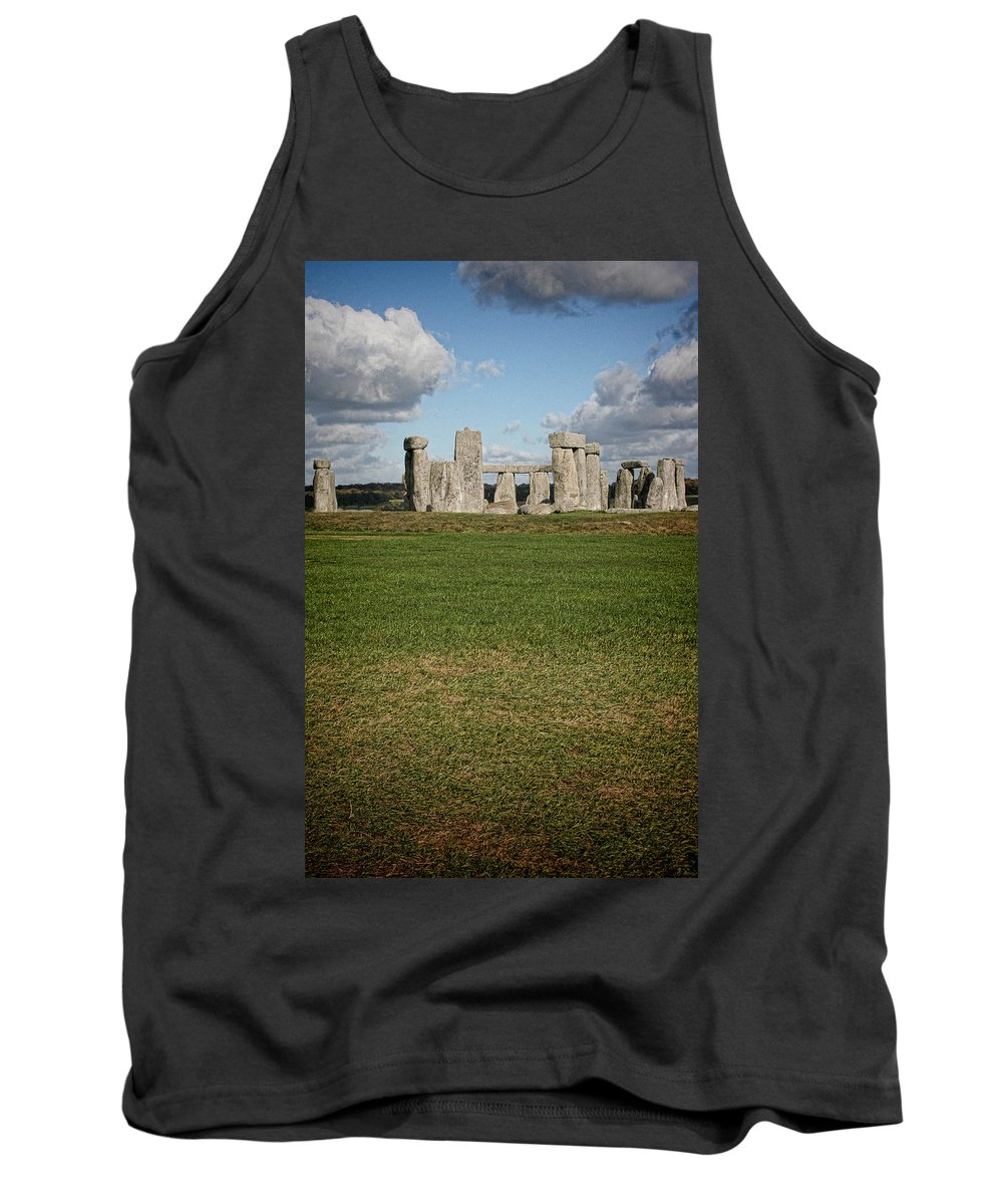Stonehenge Tank Top featuring the photograph Ancient Stones by Heather Applegate