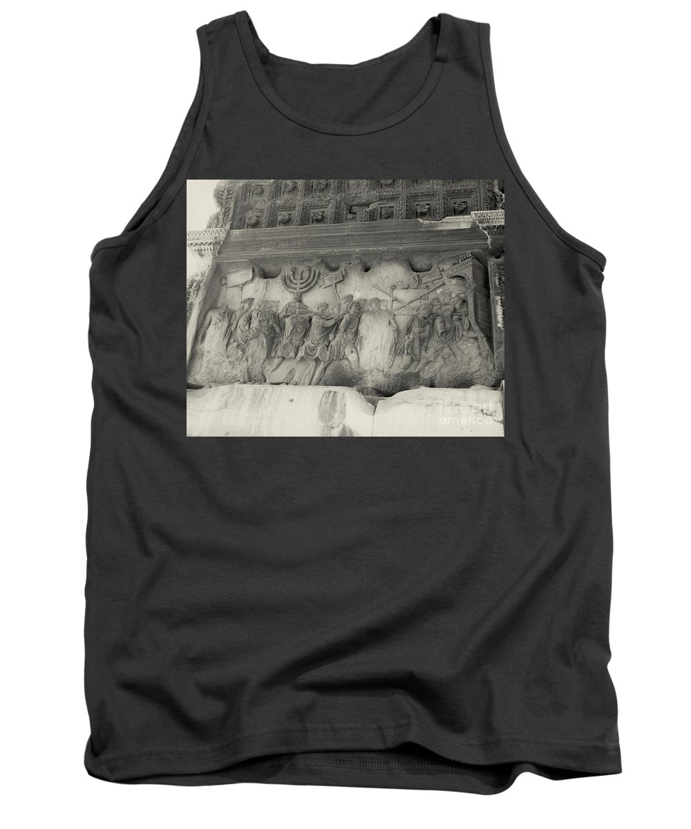 Holy Temple Tank Top featuring the photograph Arch Of Titus, Rome, Italy by Photo Researchers, Inc.