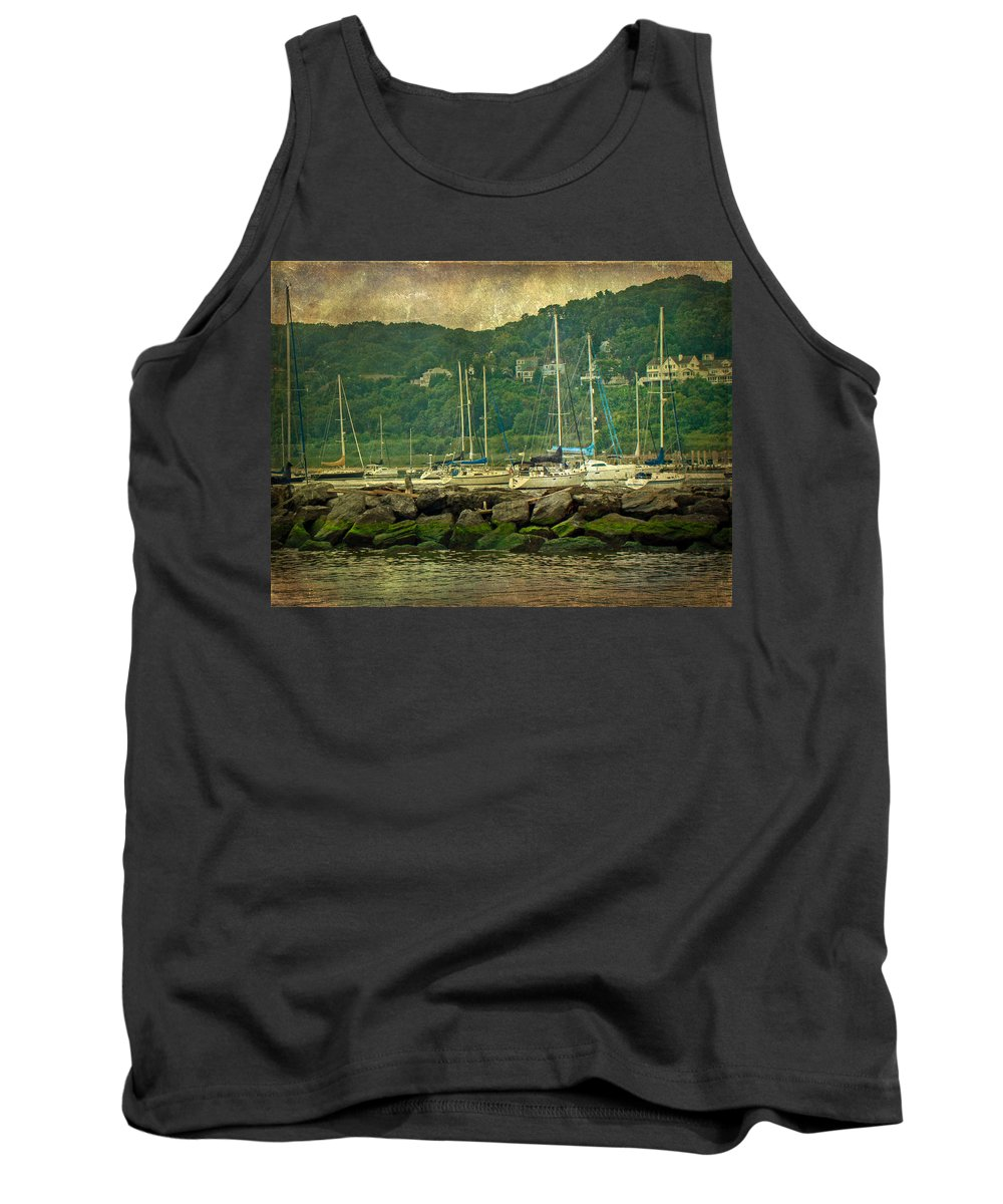 Boats Tank Top featuring the photograph At Home In The Harbor - Atlantic Highlands Nj by Mother Nature