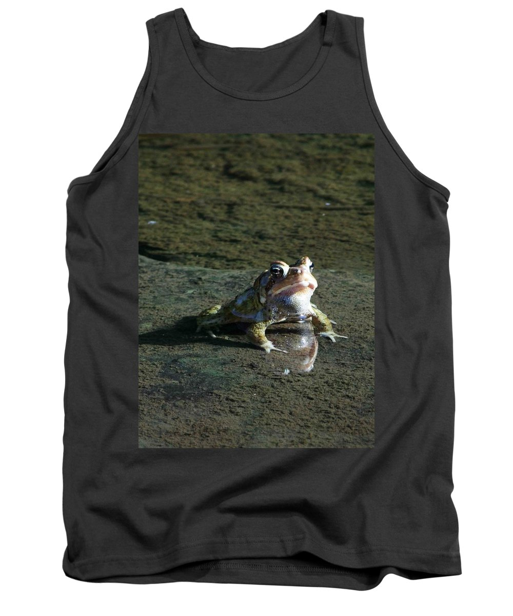 Frog Tank Top featuring the photograph Attitude by Dennis Comins