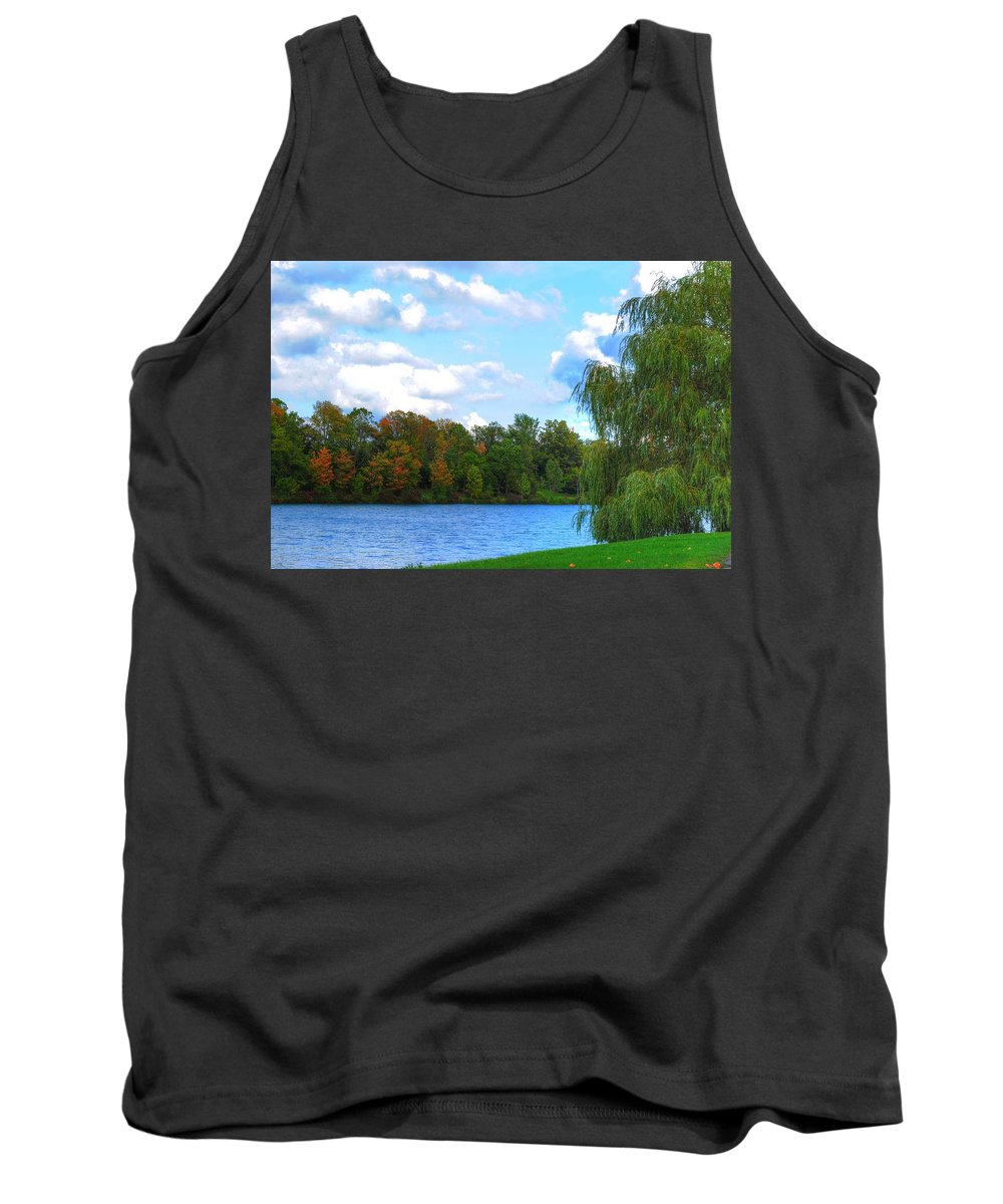 Tank Top featuring the photograph Autumn At Hoyt Lake by Michael Frank Jr