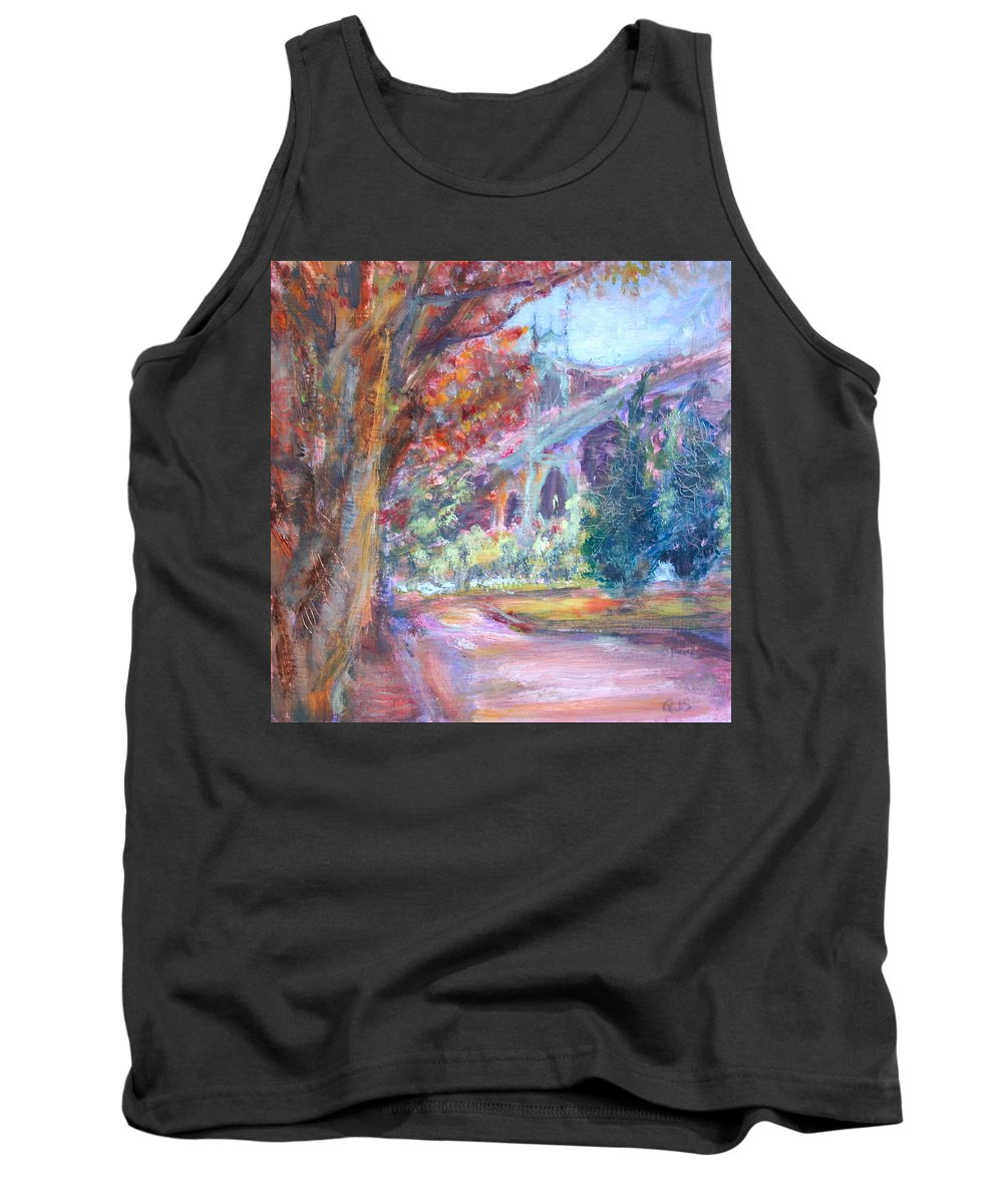 St. Johns Tank Top featuring the painting Autumn In The Park by Quin Sweetman