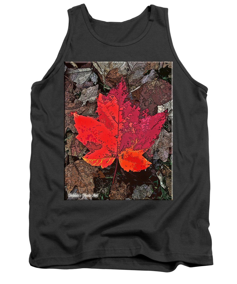Nature Tank Top featuring the photograph Autumn Leaf Art Iv by Debbie Portwood