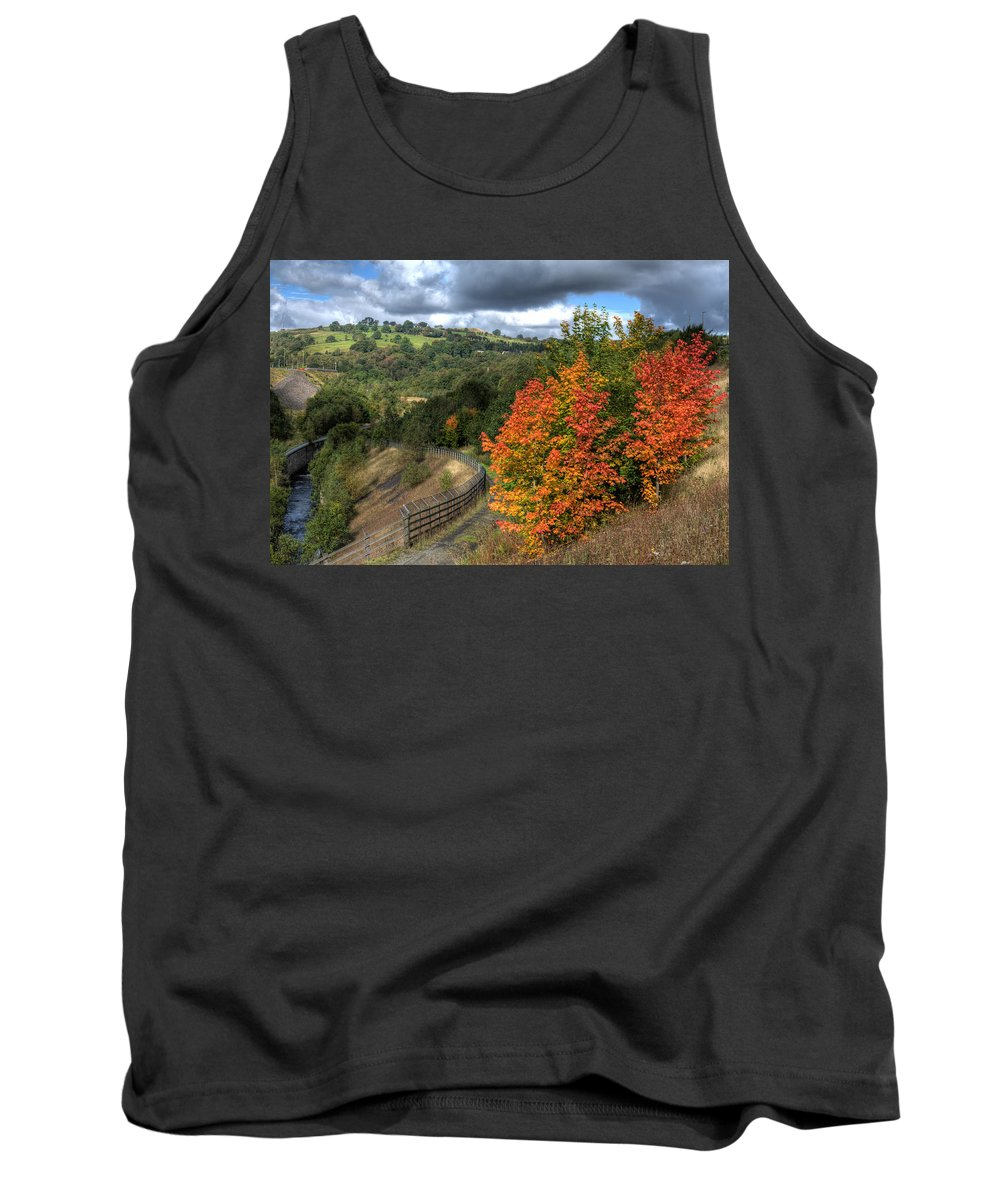Bargoed Woodland Park Tank Top featuring the photograph Bargoed Woodland Park by Steve Purnell