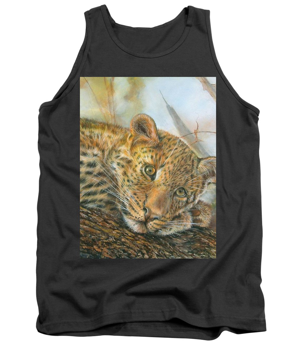 Mammal Tank Top featuring the painting Beauty Is In The Eye by Penny Golledge