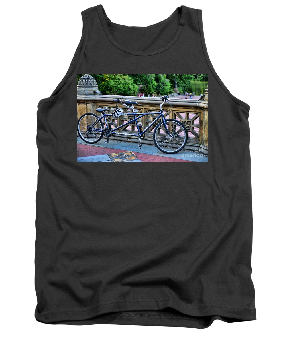 Bicycle Built For Two Tank Top featuring the photograph Bicycle Built For Two by Paul Ward