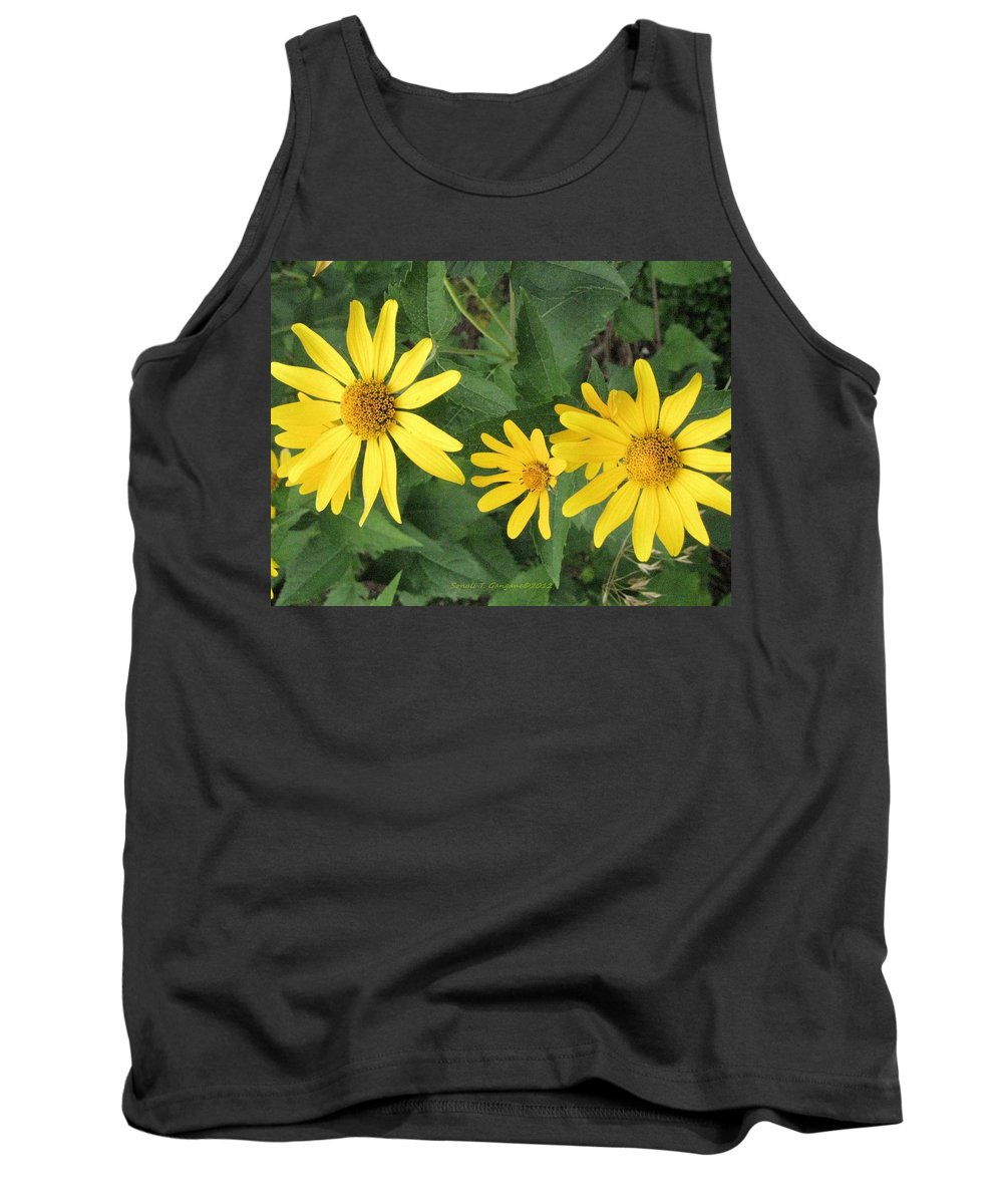 Daisies Tank Top featuring the photograph Big And Small by Sonali Gangane