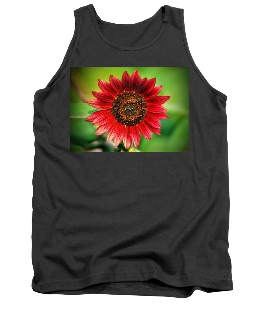 Sunflower Tank Top featuring the photograph Big Red by Bill Cannon