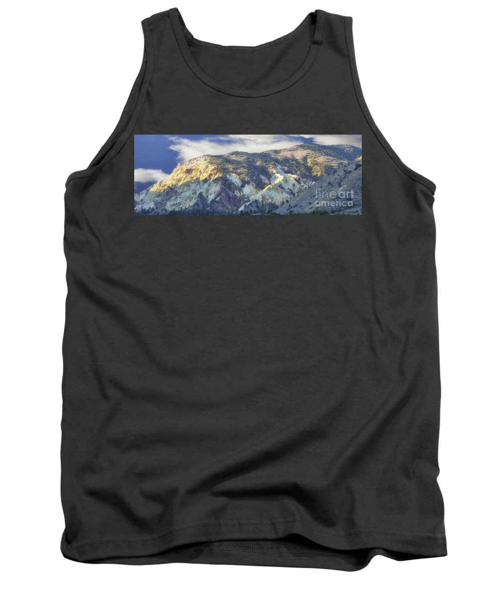 Scenery Tank Top featuring the photograph Big Rock Candy Mountains by Donna Greene