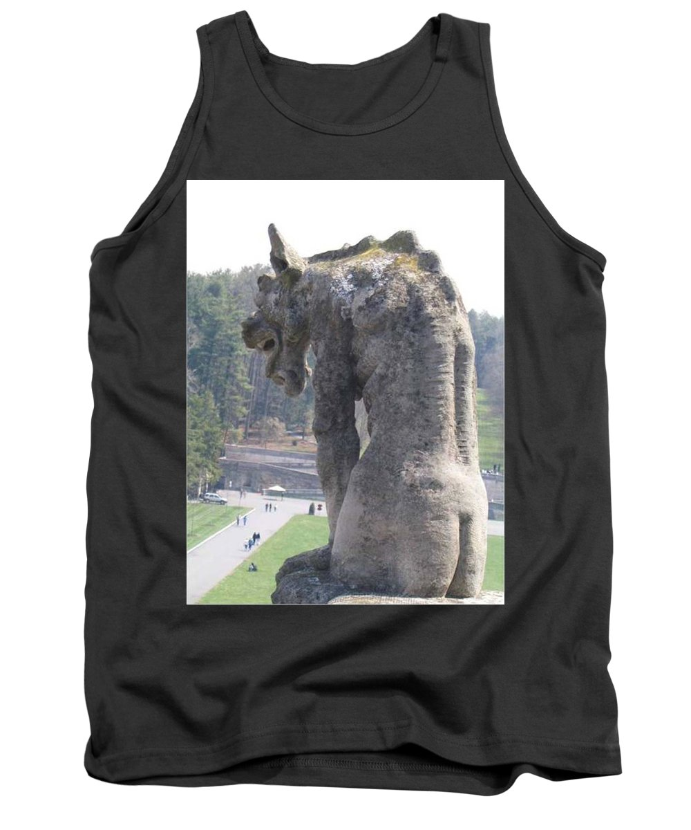 Gothic Tank Top featuring the photograph Biltmore Gargoyle by Stacy C Bottoms