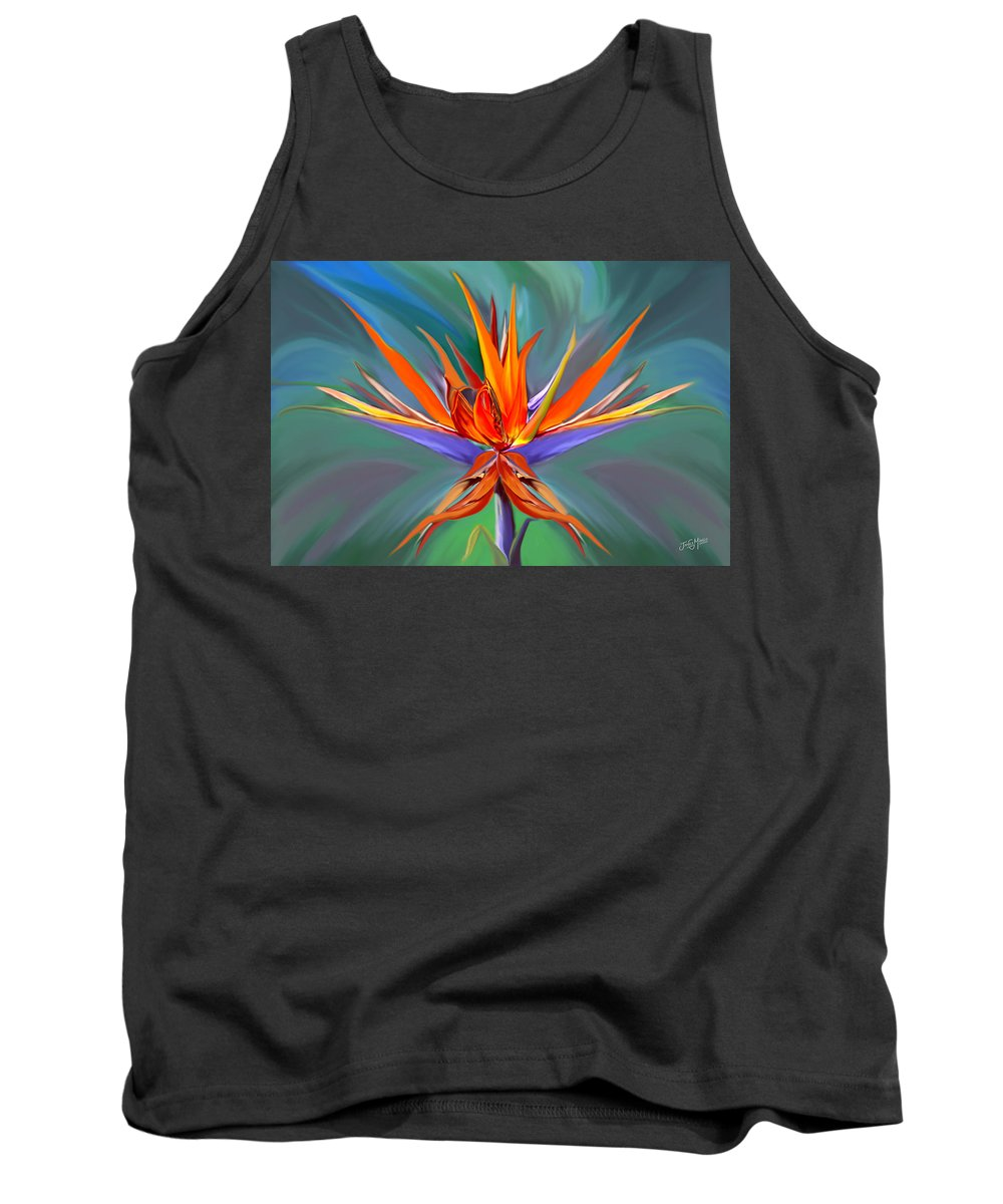 Flower Tank Top featuring the digital art Birds Of Paradise by James Mingo