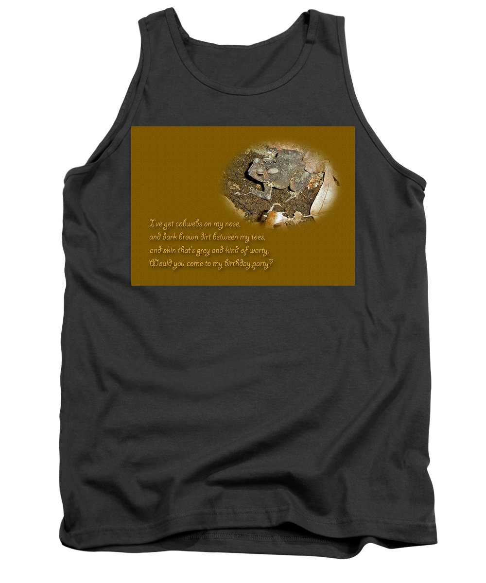 Invitation Tank Top featuring the photograph Birthday Party Invitation - Common Toad - Child by Mother Nature