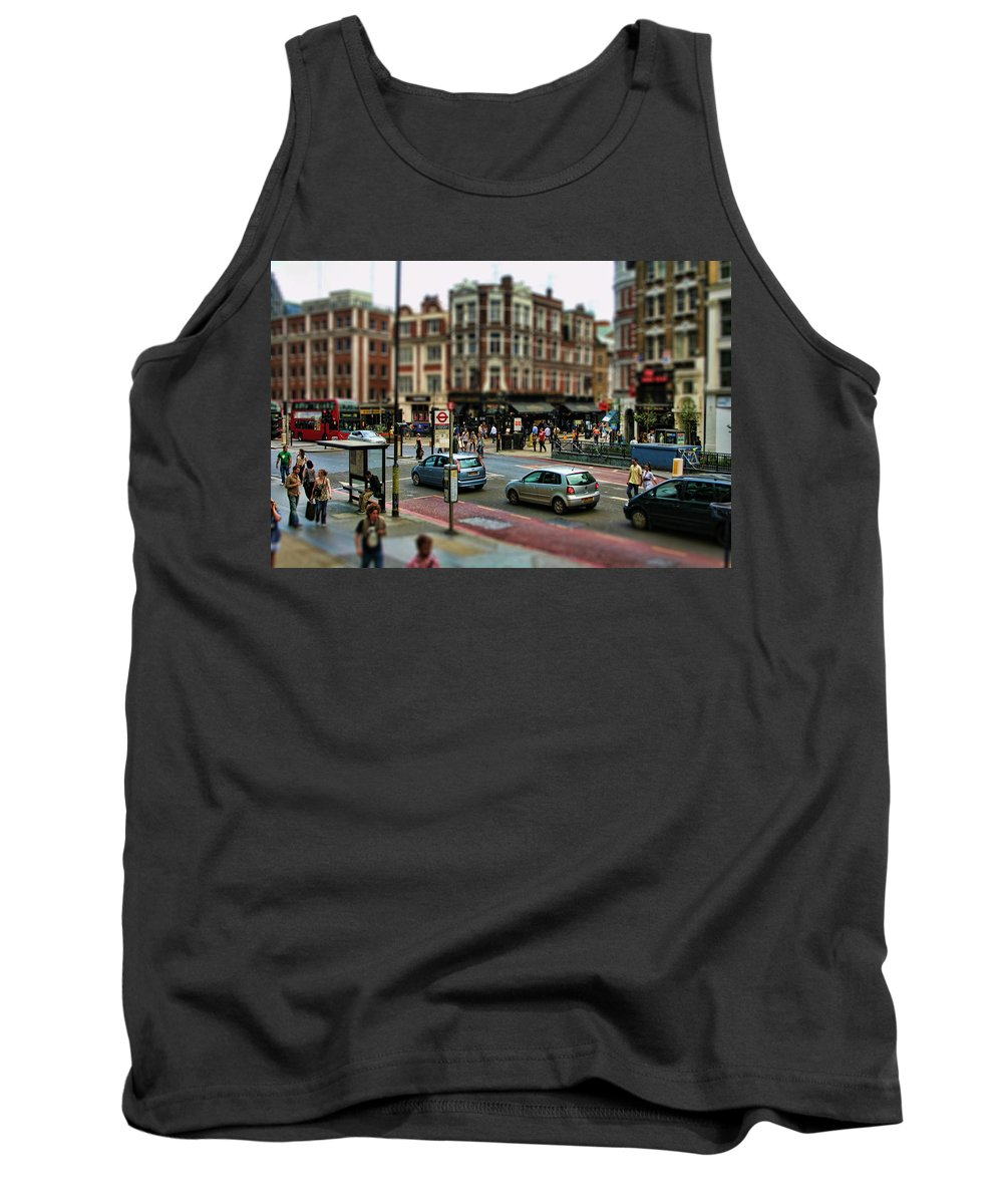 London Tank Top featuring the photograph Bishopsgate by Heather Applegate