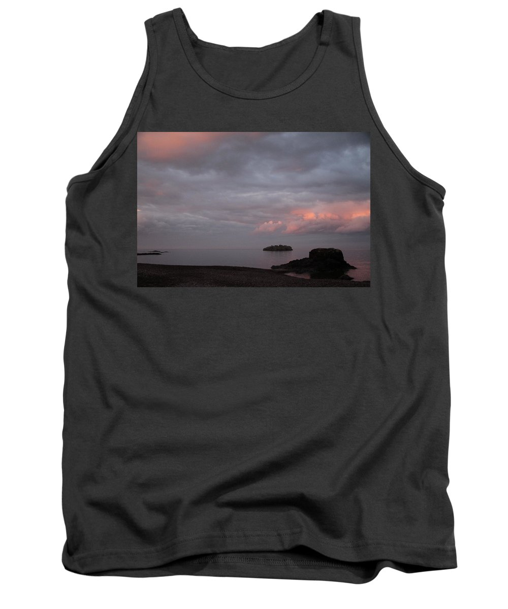 Tank Top featuring the photograph Black Beach Silver Bay by Joi Electa