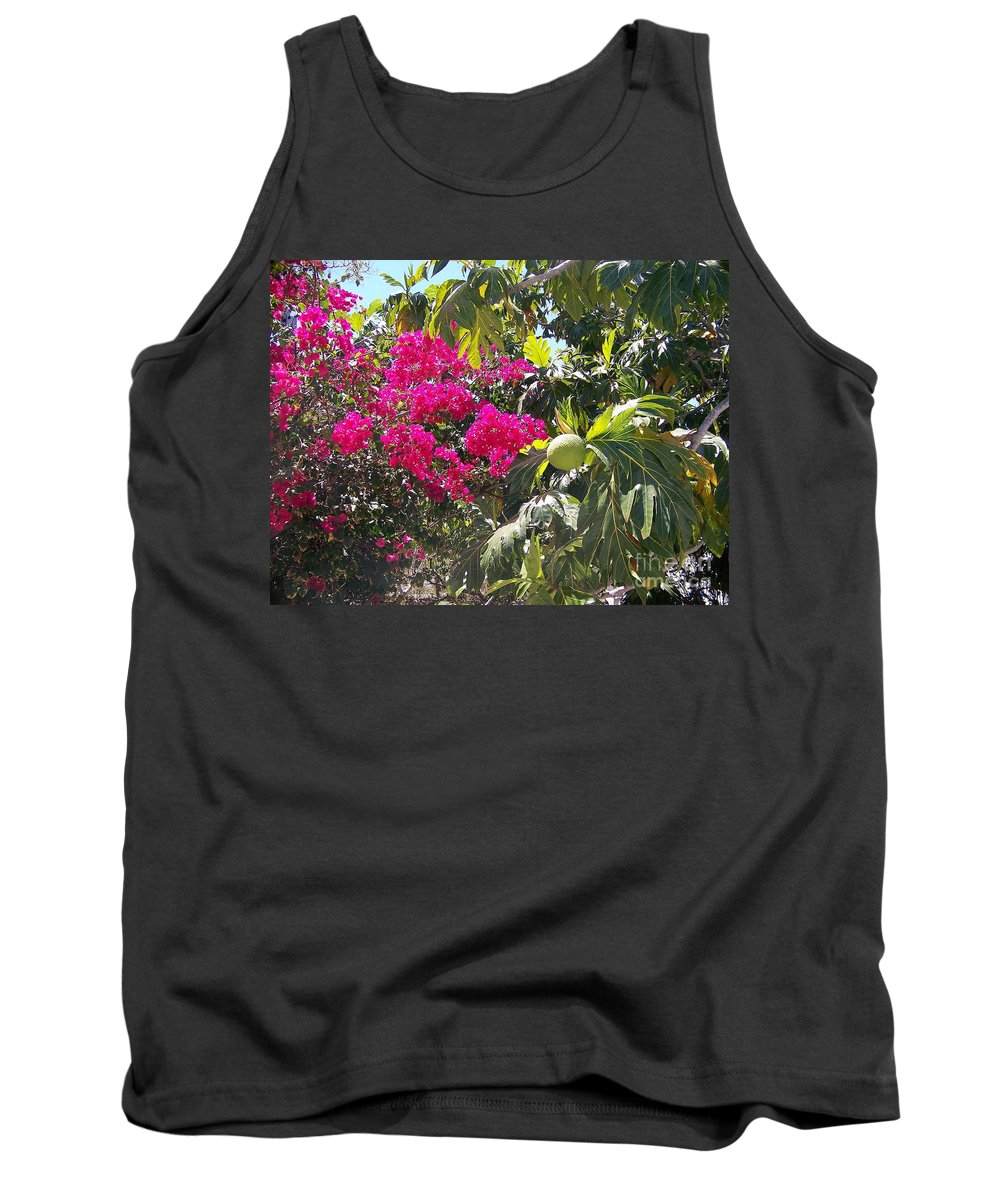 Breadfruit Tank Top featuring the photograph Blossoms And Breadfruit by Greg Hammond