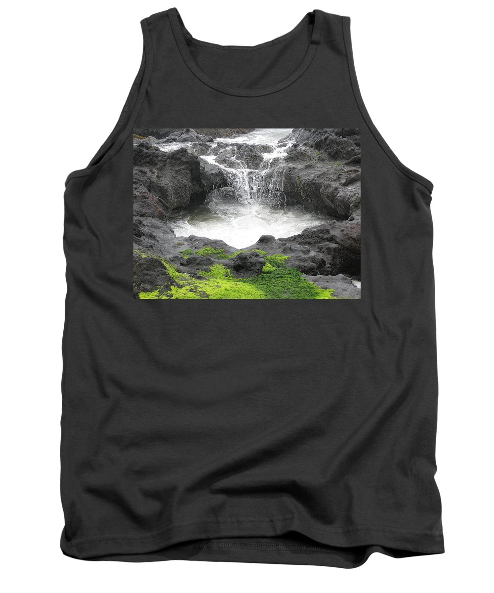 Yachats Tank Top featuring the photograph Blow Hole 2 by Linda Hutchins