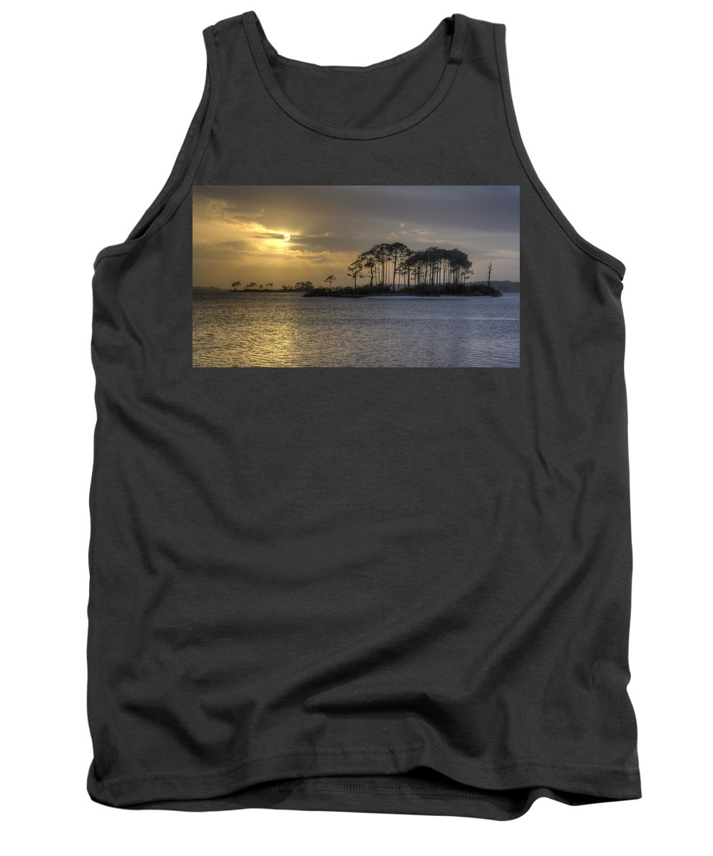 Sunset Tank Top featuring the photograph Blue And Gold by David Troxel
