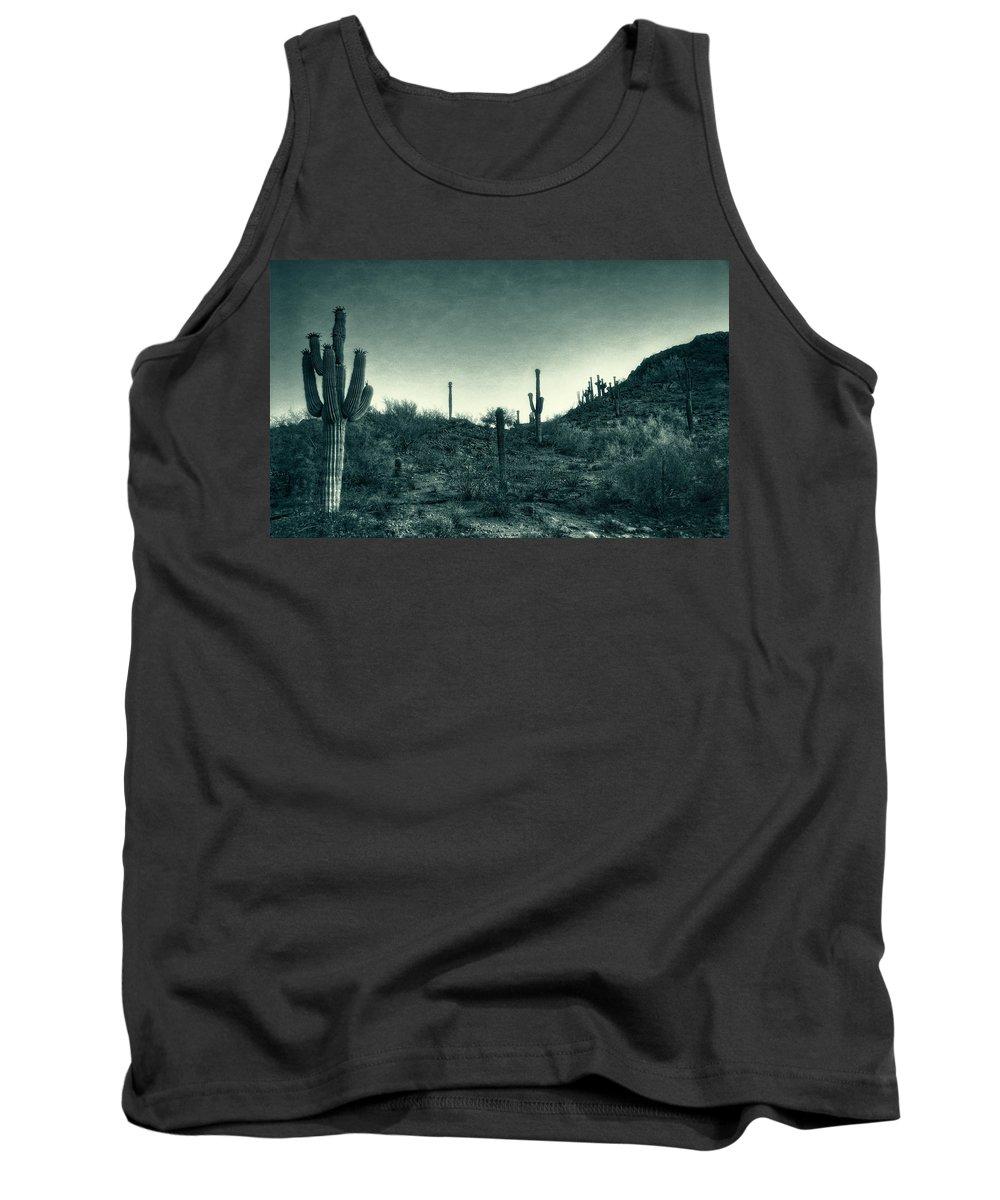 Sonoran Desert Tank Top featuring the photograph Blue Desert by Saija Lehtonen