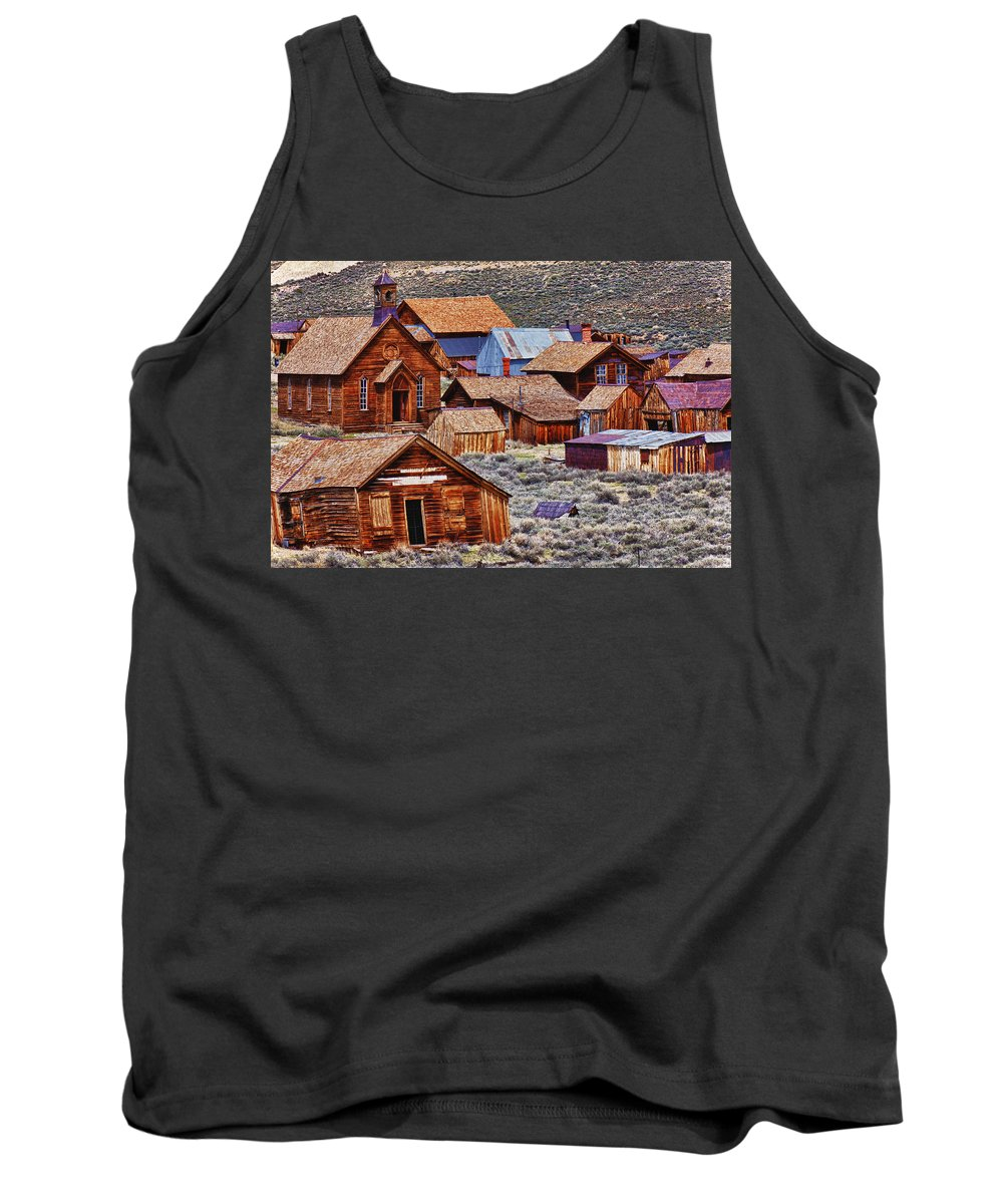 Bodie Tank Top featuring the photograph Bodie Ghost Town California by Garry Gay
