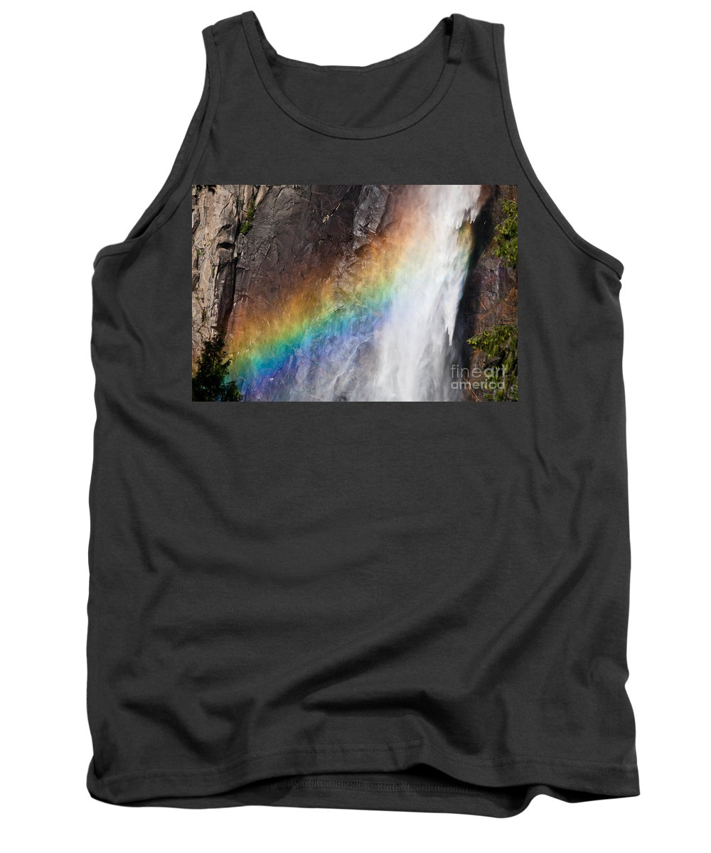 Granite Tank Top featuring the photograph Bridalveil Fall Rainbow by Olivier Steiner