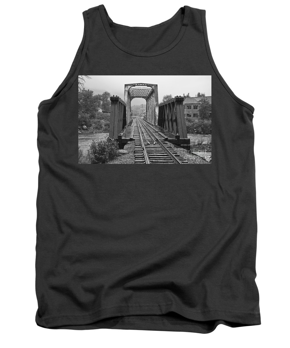 Cumbres & Toltec Tank Top featuring the photograph Bridging The River by Tim Mulina