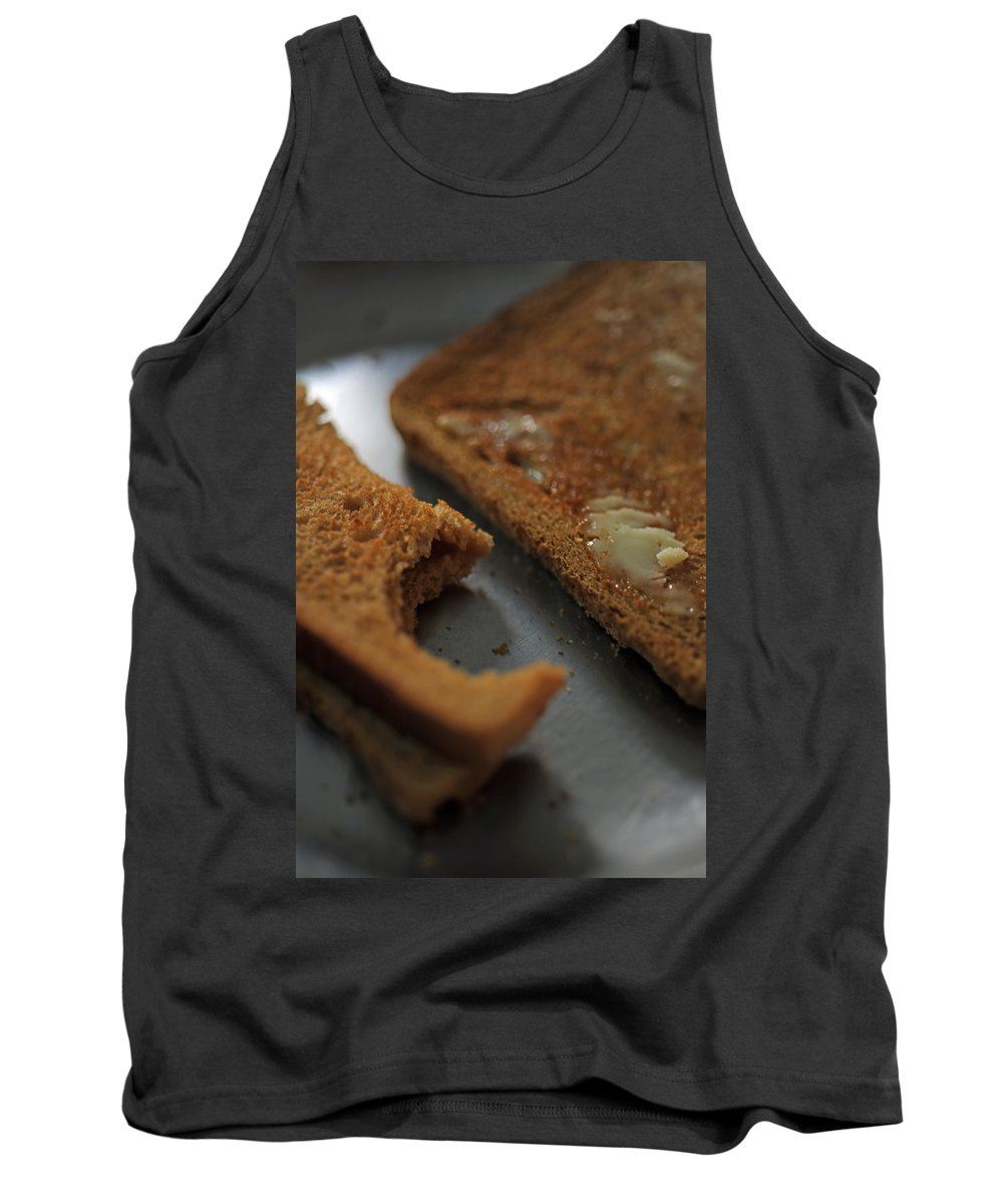Bread Tank Top featuring the photograph Brown Bread With Butter by Ashish Agarwal
