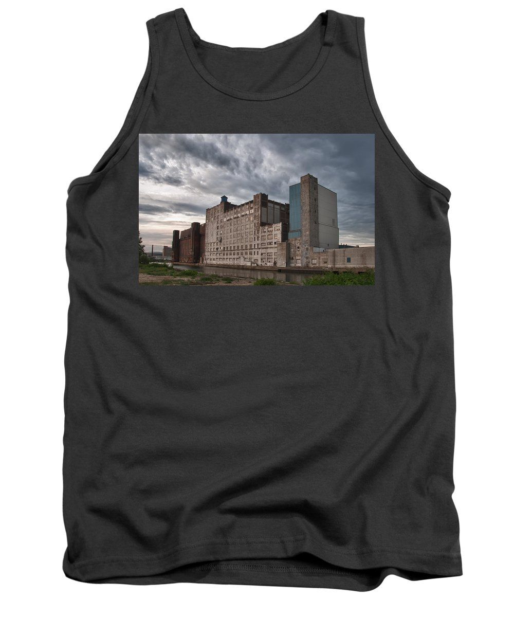Buffalo Tank Top featuring the photograph Buffalo Mills - The Backside by Guy Whiteley