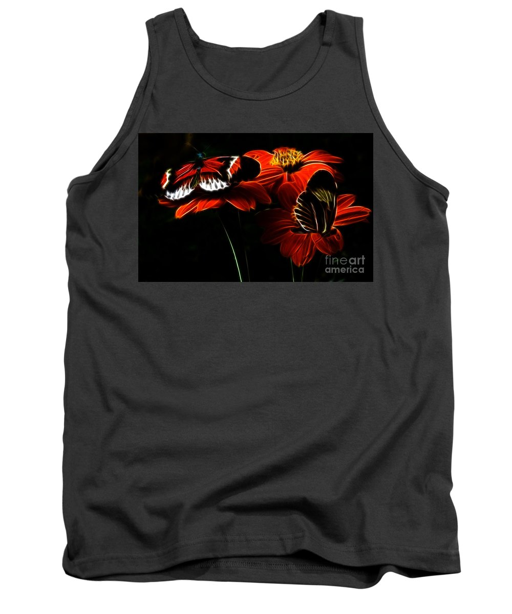 Butterfly Tank Top featuring the photograph Butterfly Duet by Darleen Stry