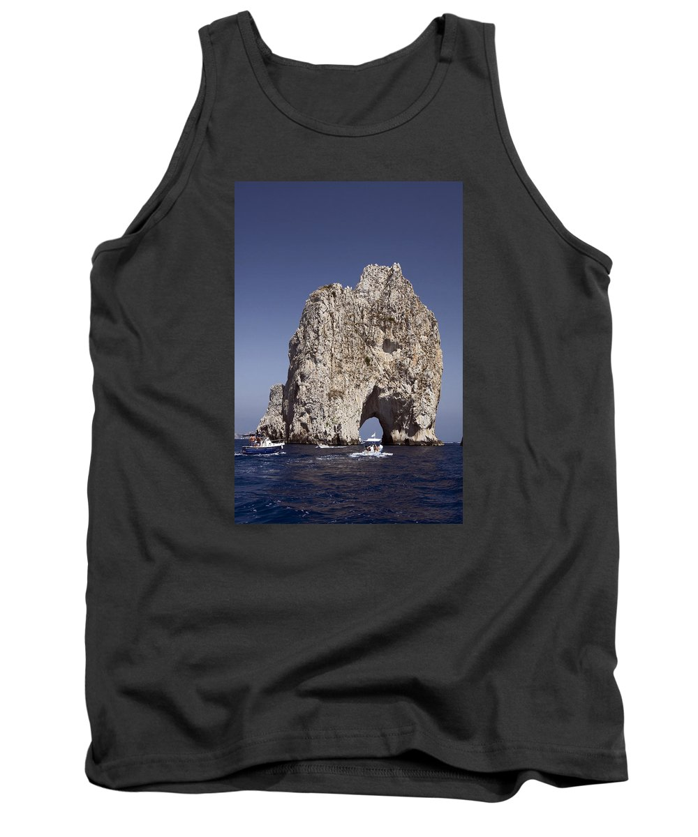 Small Motorboats Tank Top featuring the photograph Capri Arch by Sally Weigand