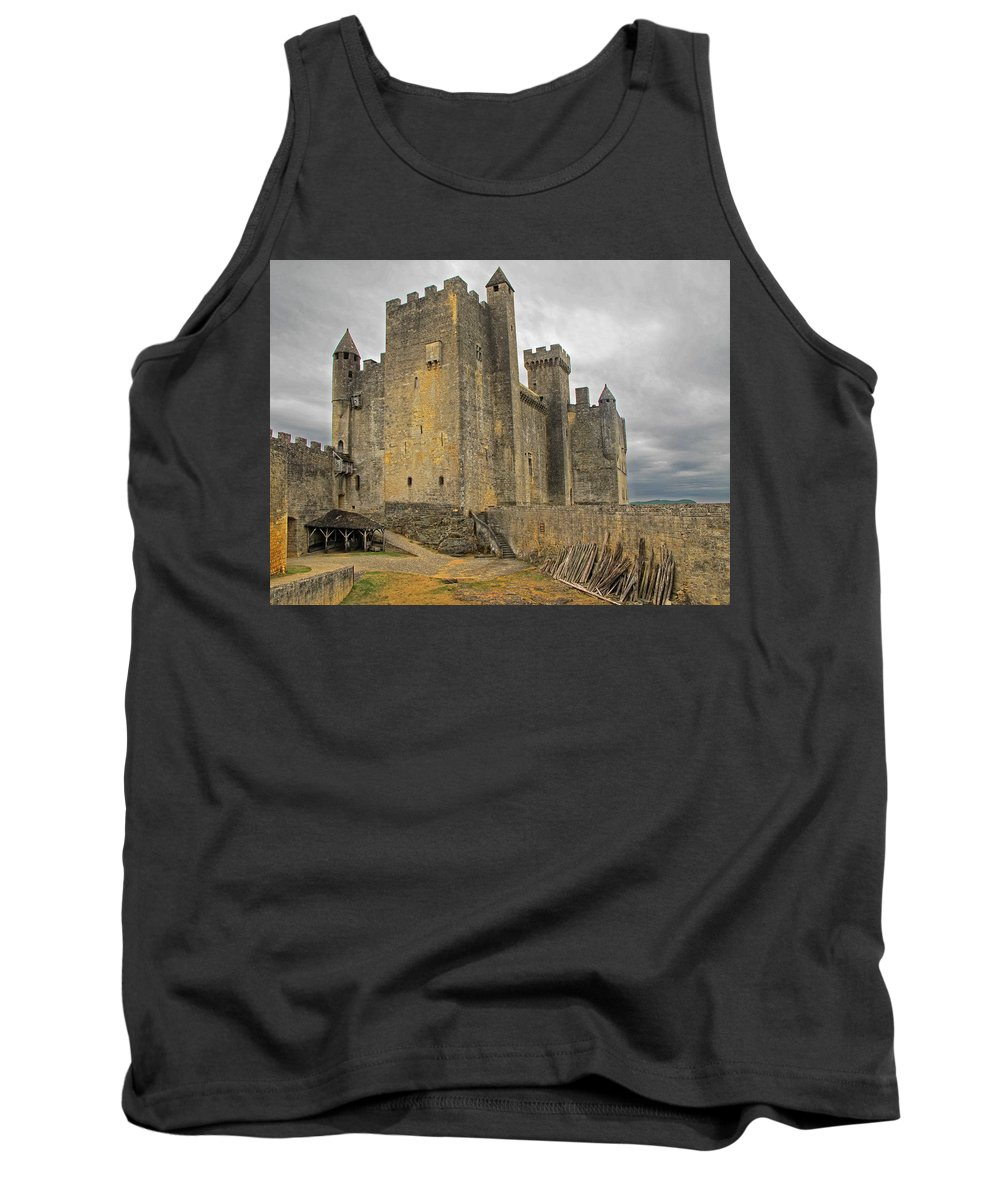 Castle Tank Top featuring the photograph Castle Dordogne France by Dave Mills