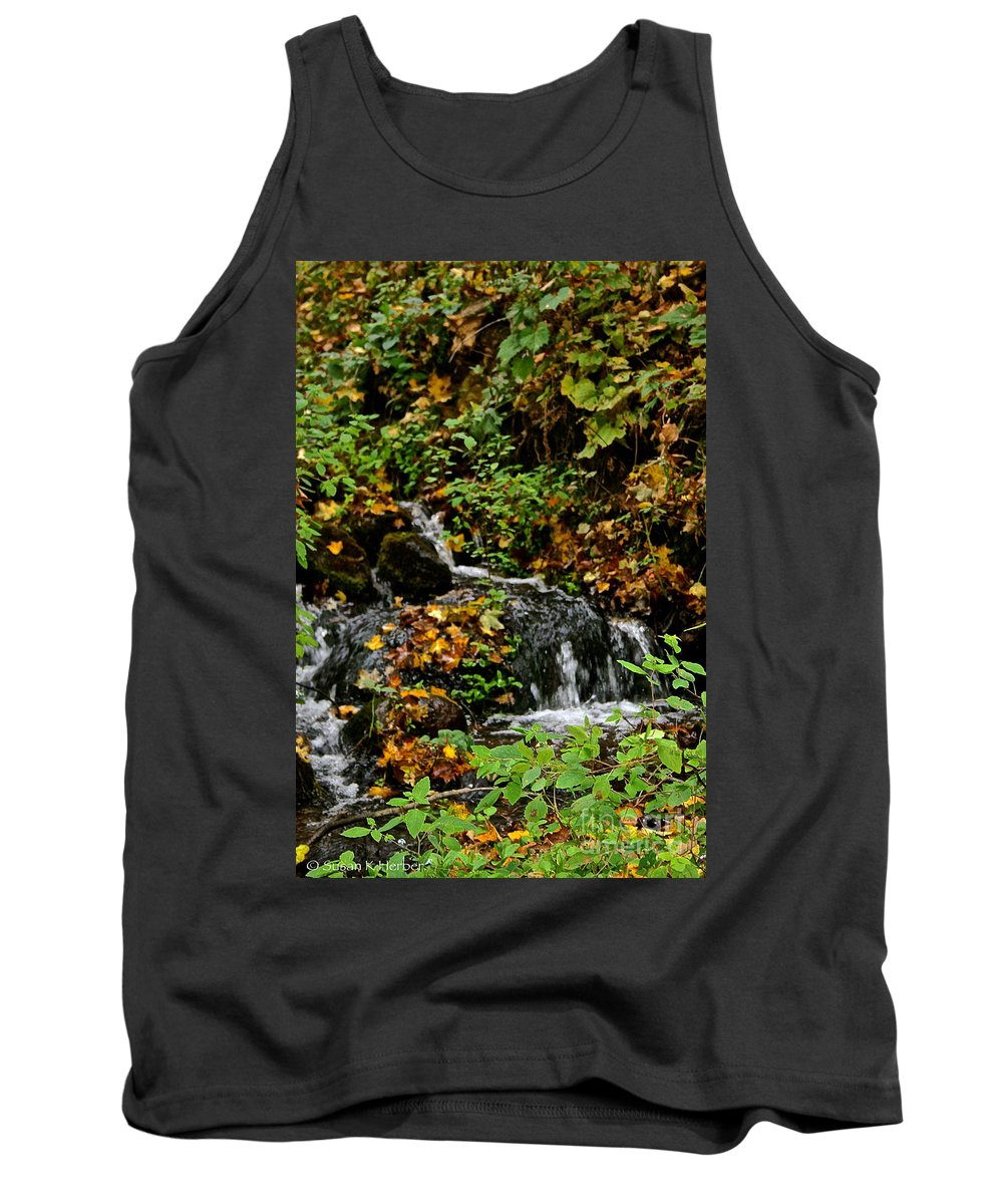 Landscape Tank Top featuring the photograph Casual Creek by Susan Herber