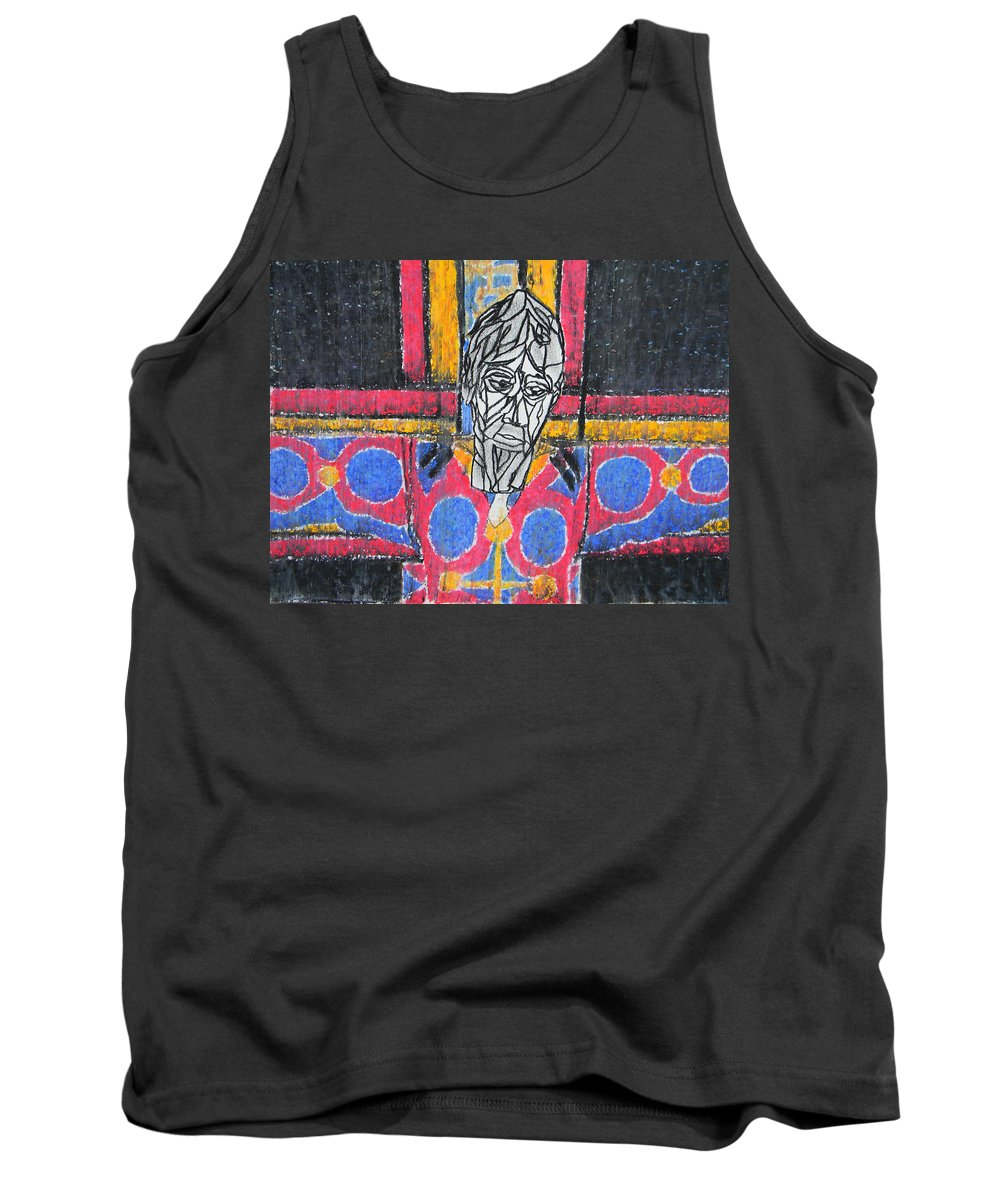 Jesus Tank Top featuring the painting Catalan Jesus by Marwan George Khoury
