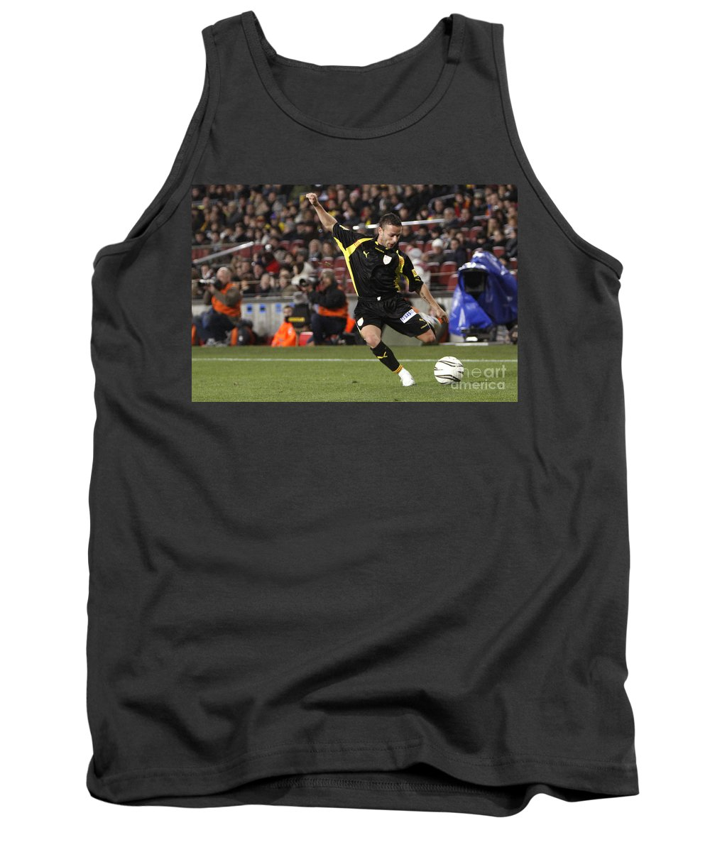 Catalonia Tank Top featuring the photograph Catalan Player Shooting by Agusti Pardo Rossello