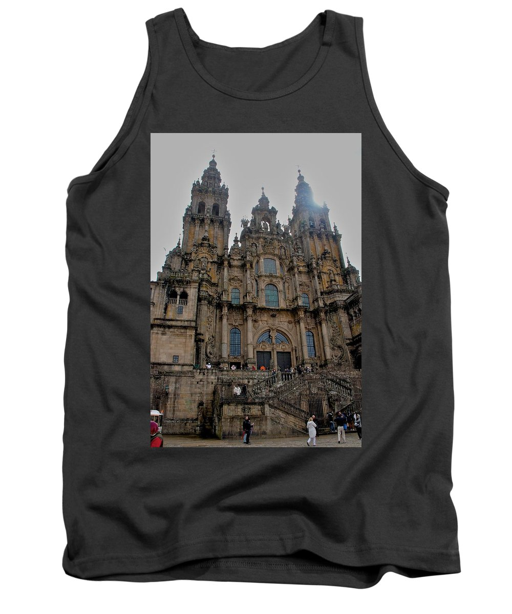 Cathedral At Santiago De Compostela Tank Top featuring the photograph Cathedral At Santiago De Compostela by Eric Tressler
