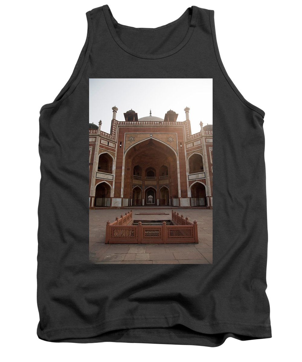 Mughal Tank Top featuring the photograph Central Cross Section Of Humayun Tomb In Delhi by Ashish Agarwal