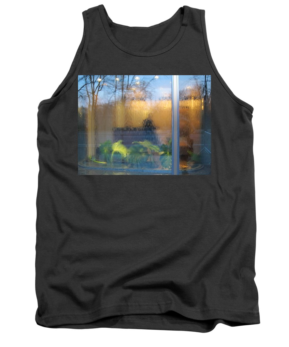 Reflections Tank Top featuring the photograph Central Park Reflections by Stefa Charczenko