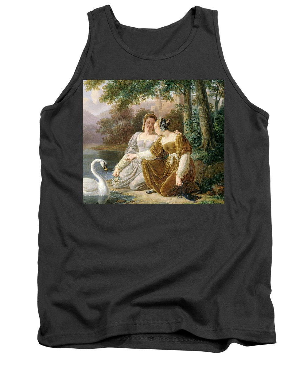 Chatelaines (oil On Panel) Chatelaine; Lady Of The Manor; Ladies; Female Tank Top featuring the painting Chatelaines by Pierre Henri Revoil
